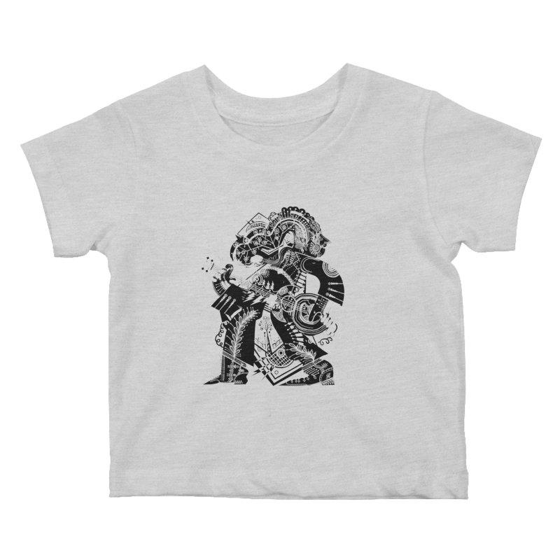 Something to Say (B/W) Kids Baby T-Shirt by HABBENINK's Artist Shop