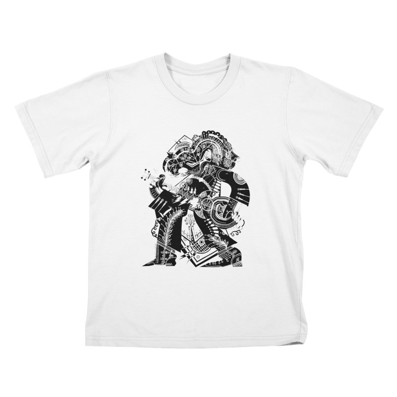 Something to Say (B/W) Kids T-Shirt by HABBENINK's Artist Shop