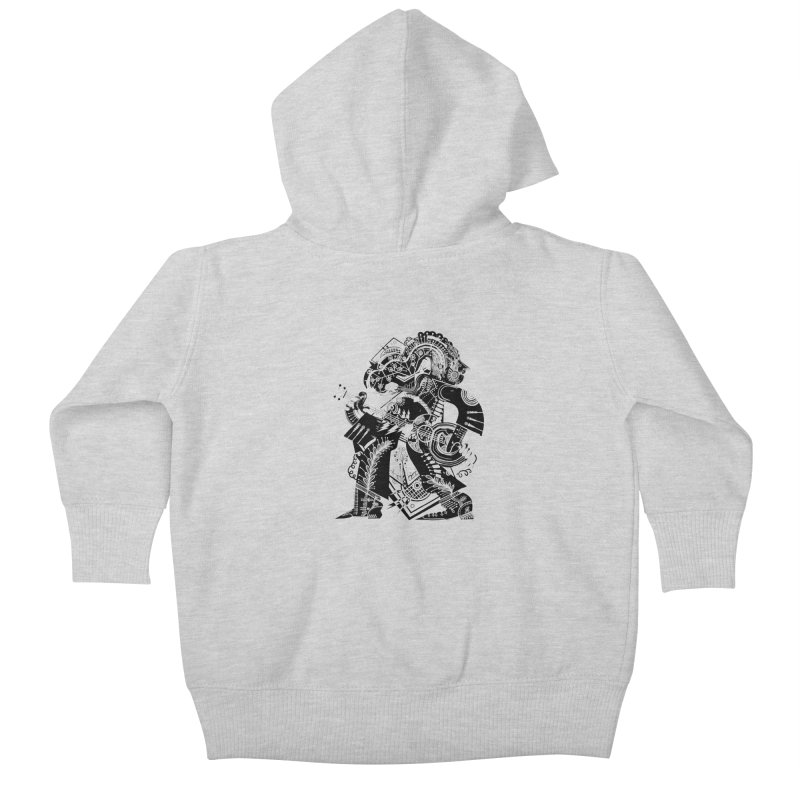 Something to Say (B/W) Kids Baby Zip-Up Hoody by HABBENINK's Artist Shop