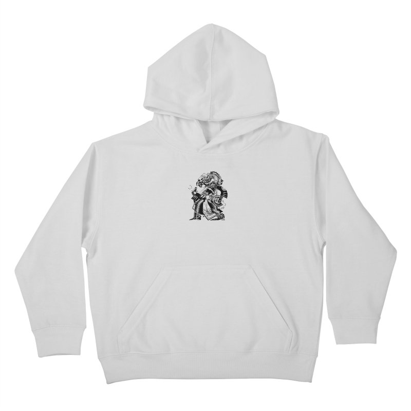 Something to Say (B/W) Kids Pullover Hoody by HABBENINK's Artist Shop
