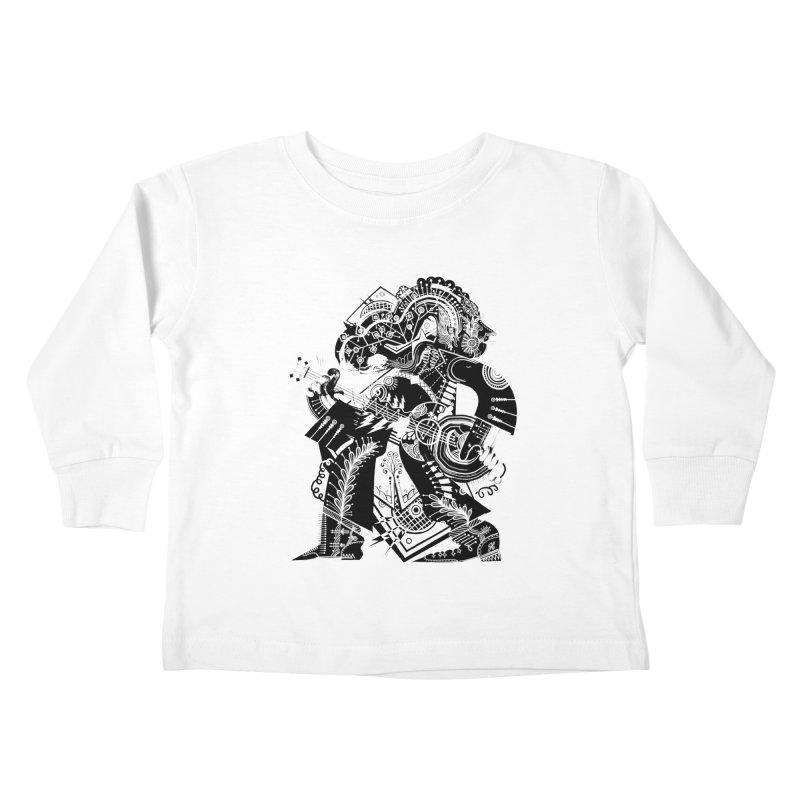 Something to Say (B/W) Kids Toddler Longsleeve T-Shirt by HABBENINK's Artist Shop
