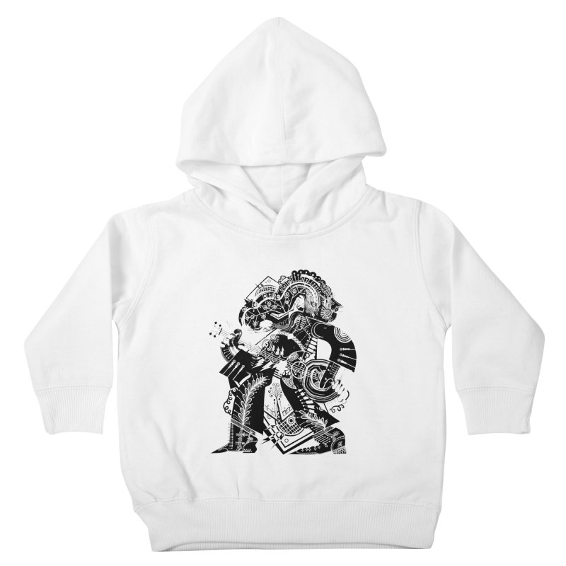Something to Say (B/W) Kids Toddler Pullover Hoody by HABBENINK's Artist Shop