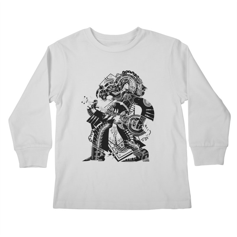 Something to Say (B/W) Kids Longsleeve T-Shirt by HABBENINK's Artist Shop
