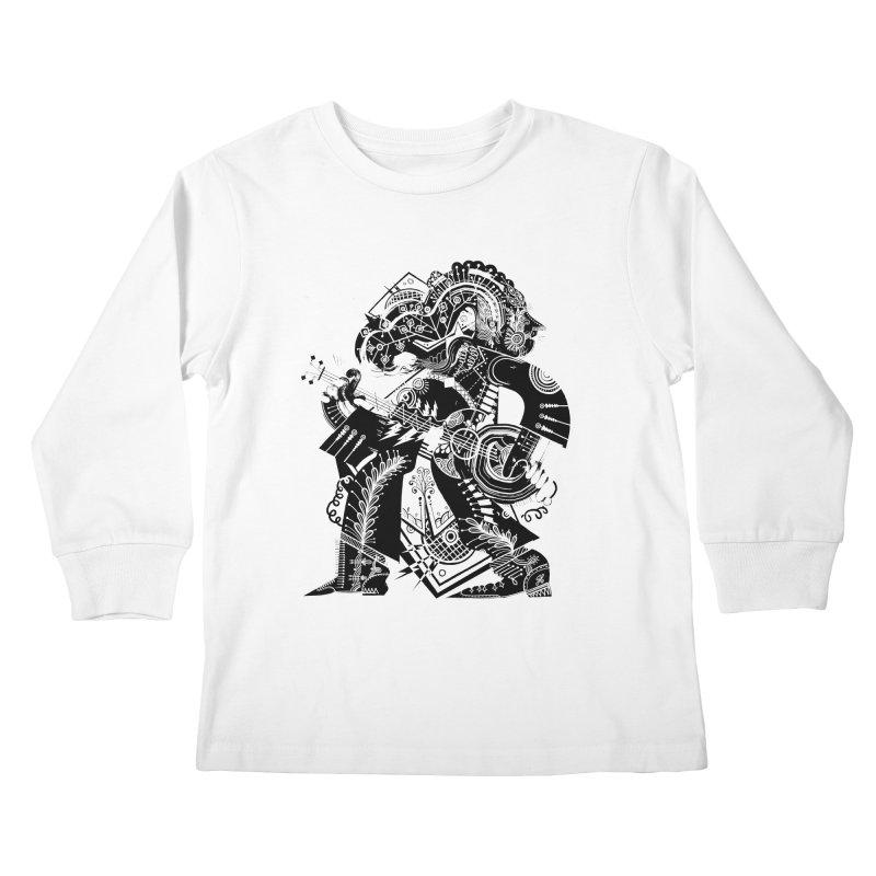 Something to Say (B/W) Kids Longsleeve T-Shirt by HABBENINK's Artist Shop