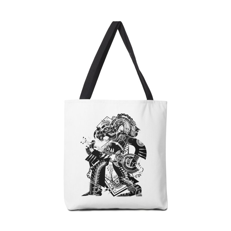 Something to Say (B/W) Accessories Bag by HABBENINK's Artist Shop
