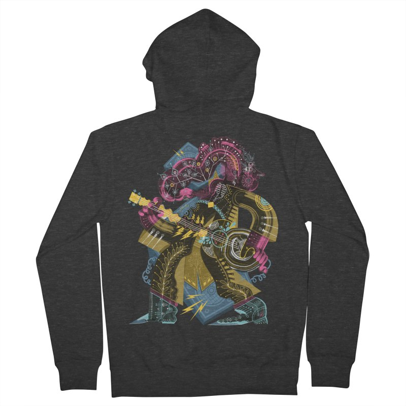 Something to Say Men's French Terry Zip-Up Hoody by HABBENINK's Artist Shop