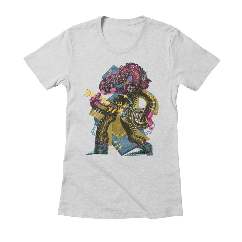 Something to Say Women's Fitted T-Shirt by HABBENINK's Artist Shop
