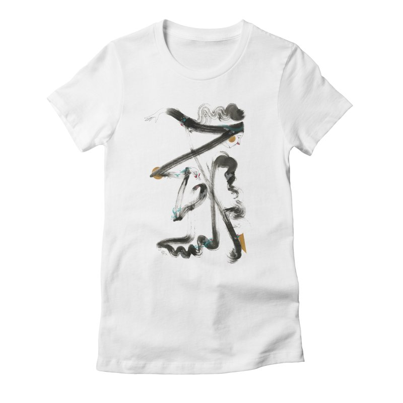 Dance #1 Women's Fitted T-Shirt by HABBENINK's Artist Shop