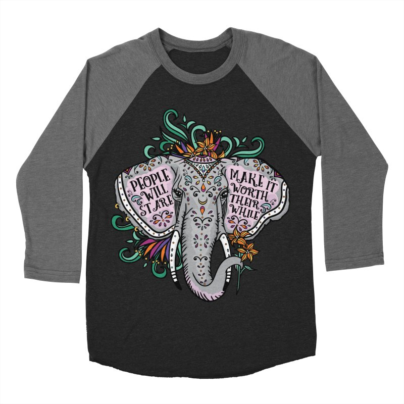 People Will Stare Women's Baseball Triblend Longsleeve T-Shirt by Haciendo Designs's Artist Shop