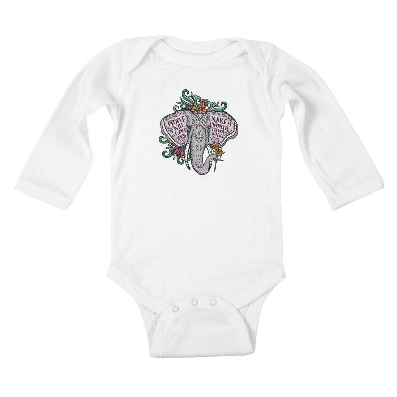 People Will Stare Kids Baby Longsleeve Bodysuit by Haciendo Designs's Artist Shop
