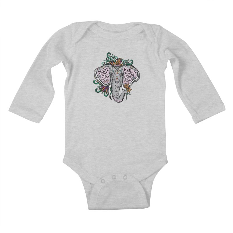 People Will Stare Kids Baby Longsleeve Bodysuit by Haciendo Designs's Artist Shop