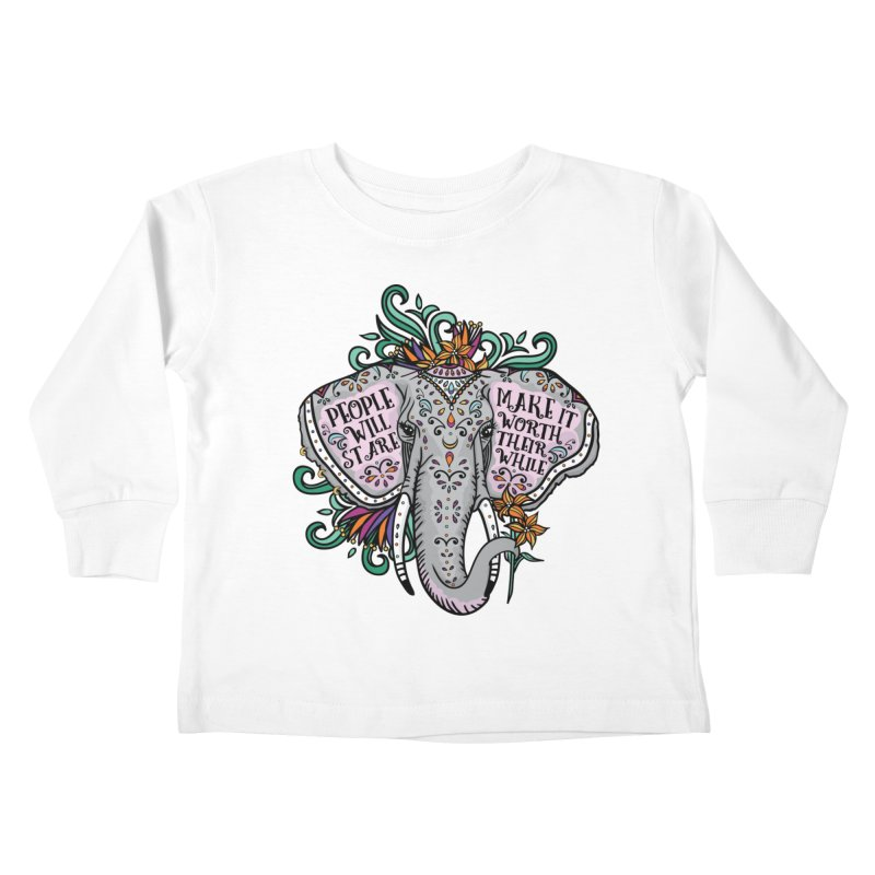 People Will Stare Kids Toddler Longsleeve T-Shirt by Haciendo Designs's Artist Shop