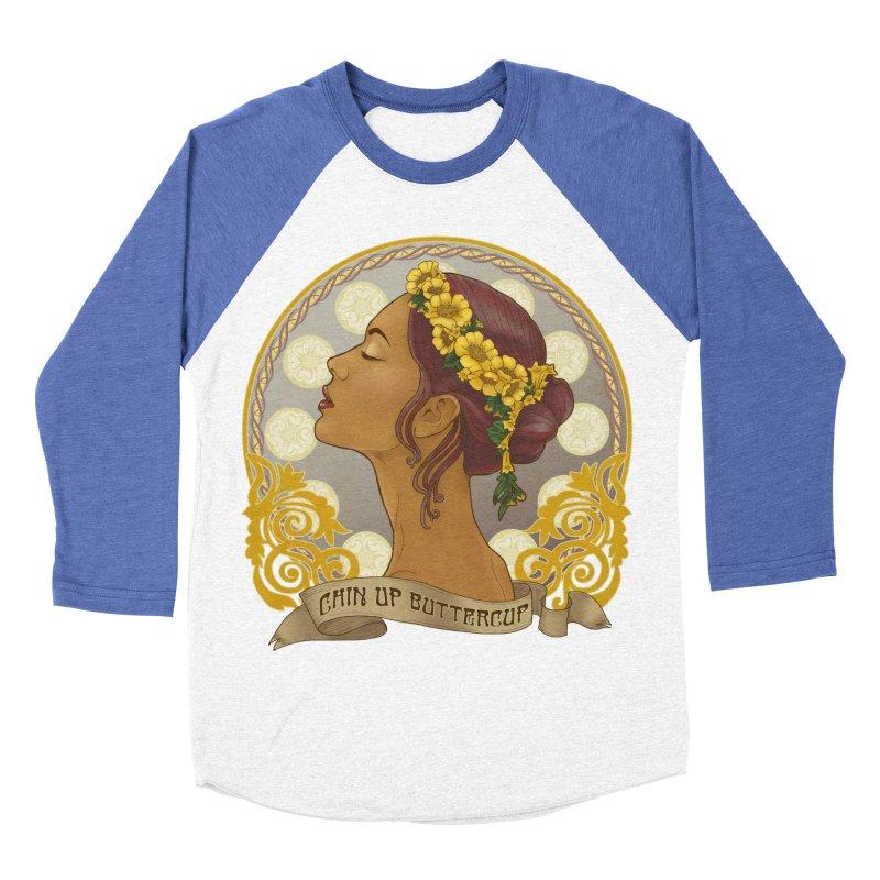Chin Up Buttercup Women's Baseball Triblend Longsleeve T-Shirt by Haciendo Designs's Artist Shop