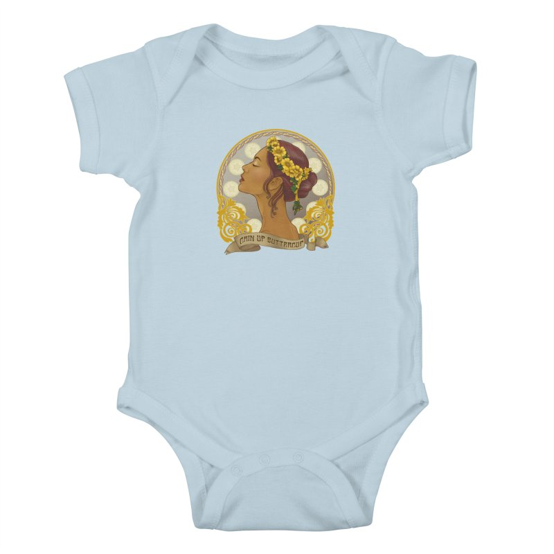 Chin Up Buttercup Kids Baby Bodysuit by Haciendo Designs's Artist Shop