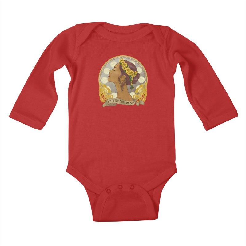 Chin Up Buttercup Kids Baby Longsleeve Bodysuit by Haciendo Designs's Artist Shop