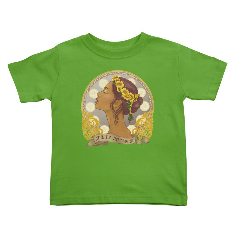 Chin Up Buttercup Kids Toddler T-Shirt by Haciendo Designs's Artist Shop