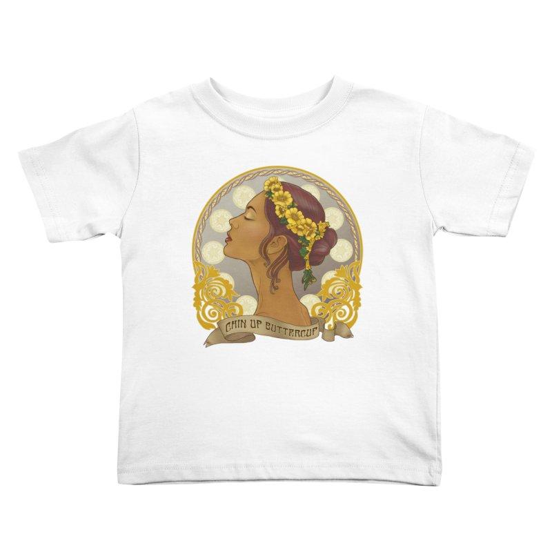 Chin Up Buttercup Kids Toddler T-Shirt by Haciendo Designs's Artist Shop