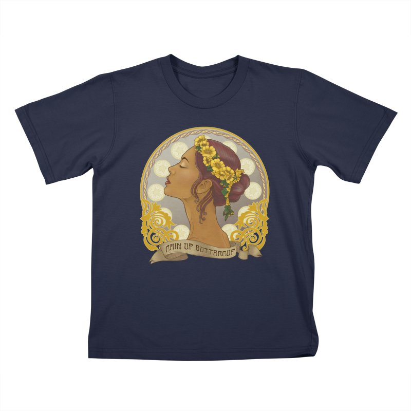 Chin Up Buttercup Kids T-Shirt by Haciendo Designs's Artist Shop