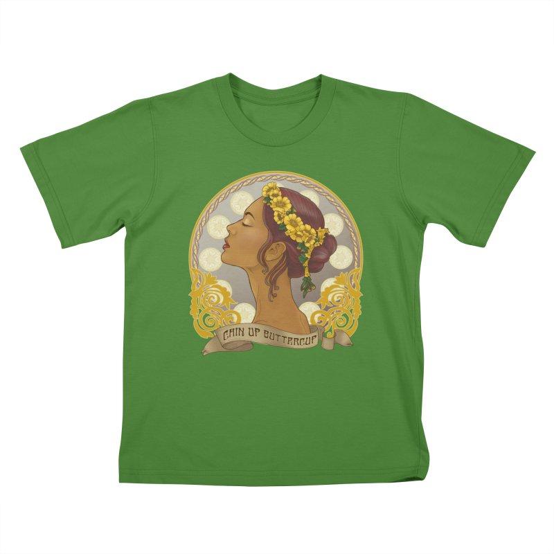 Chin Up Buttercup Kids T-Shirt by Haciendo Designs's Artist Shop
