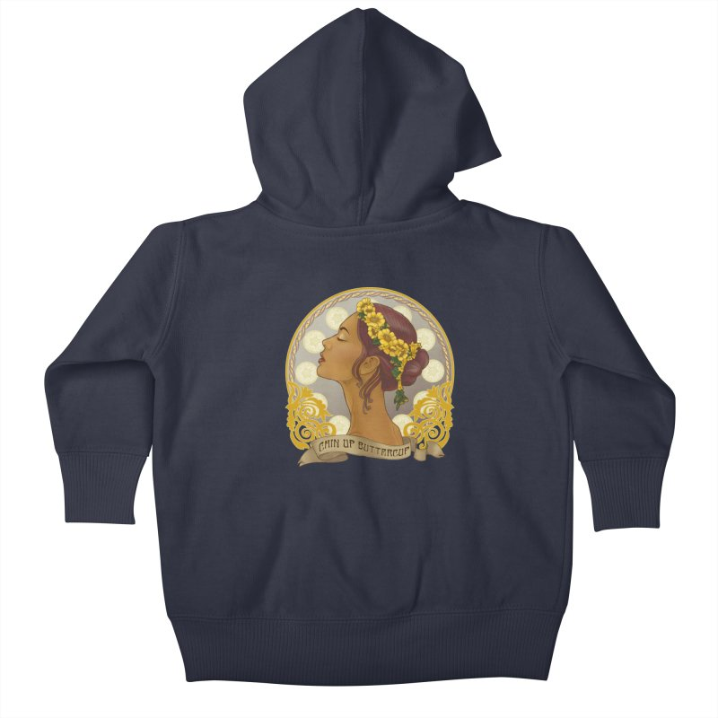 Chin Up Buttercup Kids Baby Zip-Up Hoody by Haciendo Designs's Artist Shop