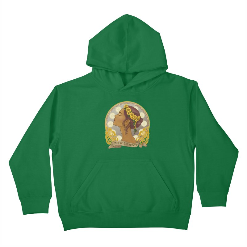 Chin Up Buttercup Kids Pullover Hoody by Haciendo Designs's Artist Shop