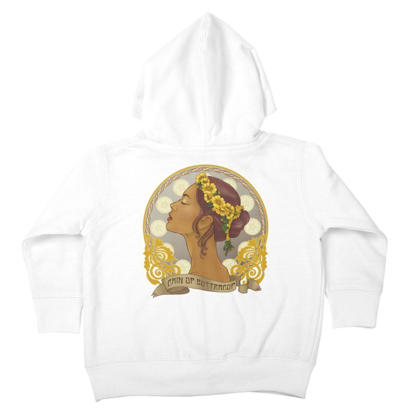 Chin Up Buttercup Kids Toddler Zip-Up Hoody by Haciendo Designs's Artist Shop