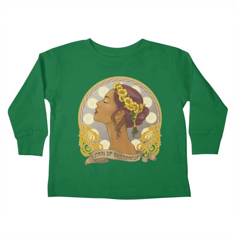 Chin Up Buttercup Kids Toddler Longsleeve T-Shirt by Haciendo Designs's Artist Shop