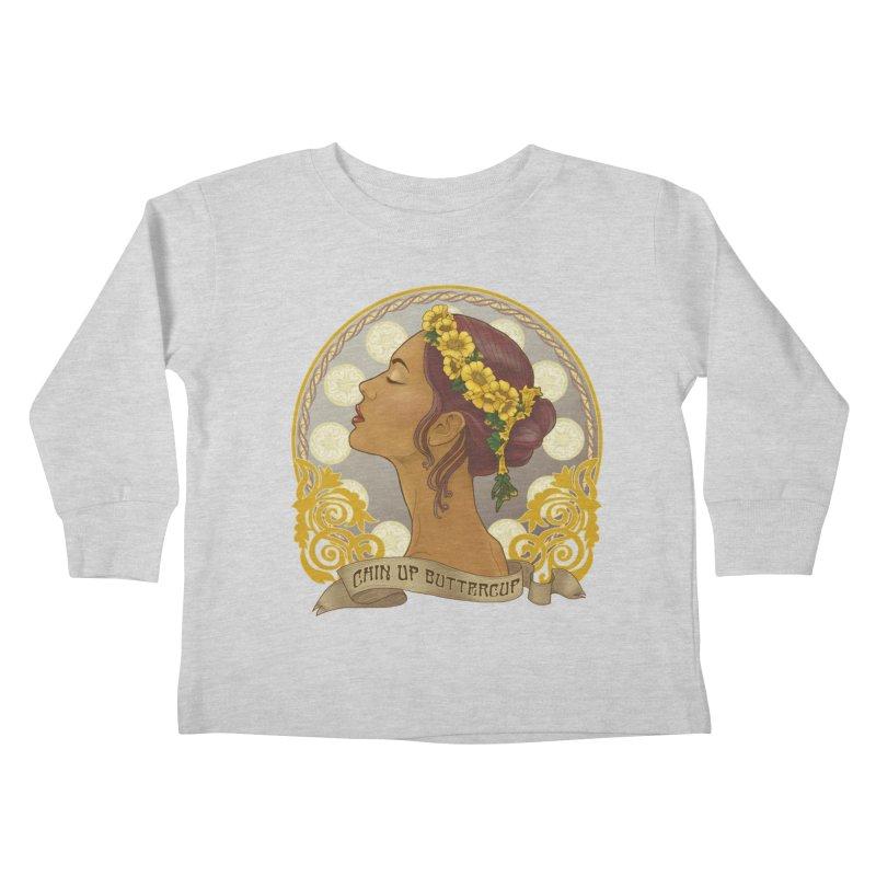 Chin Up Buttercup Kids Toddler Longsleeve T-Shirt by Haciendo Designs's Artist Shop