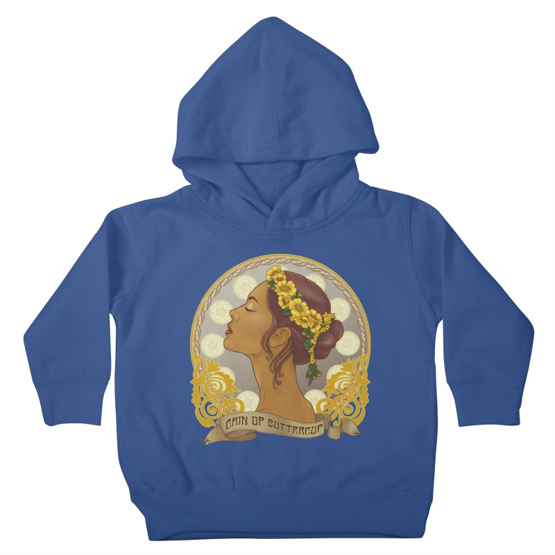 Chin Up Buttercup Kids Toddler Pullover Hoody by Haciendo Designs's Artist Shop