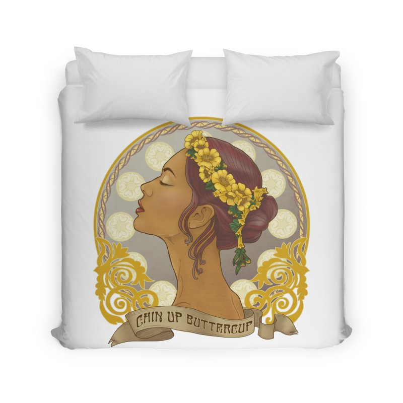 Chin Up Buttercup Home Duvet by Haciendo Designs's Artist Shop