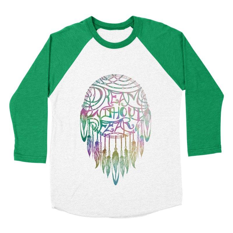 Dream Without Fear Women's Baseball Triblend T-Shirt by Haciendo Designs's Artist Shop