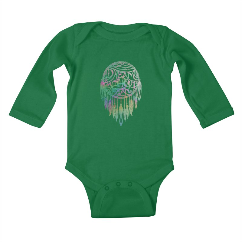 Dream Without Fear Kids Baby Longsleeve Bodysuit by Haciendo Designs's Artist Shop