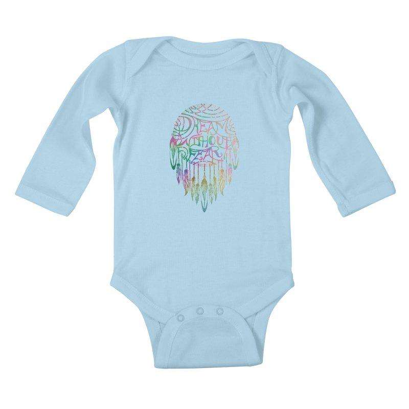 Dream Without Fear Kids Baby Longsleeve Bodysuit by Haciendo Designs's Artist Shop