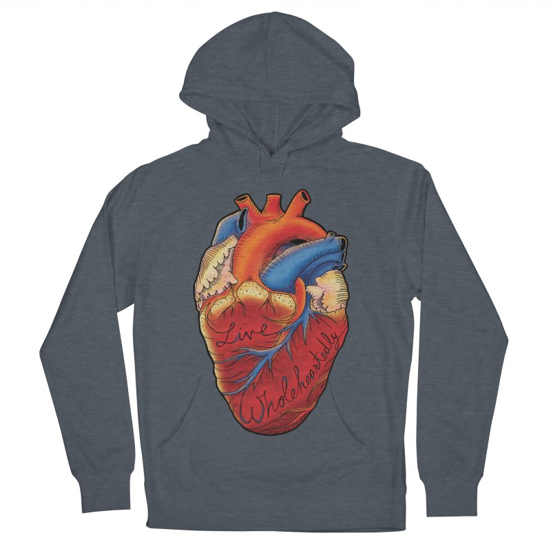 Live Wholeheartedly Women's French Terry Pullover Hoody by Haciendo Designs's Artist Shop