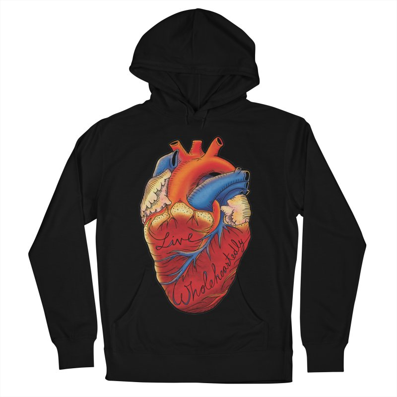 Live Wholeheartedly Men's French Terry Pullover Hoody by Haciendo Designs's Artist Shop