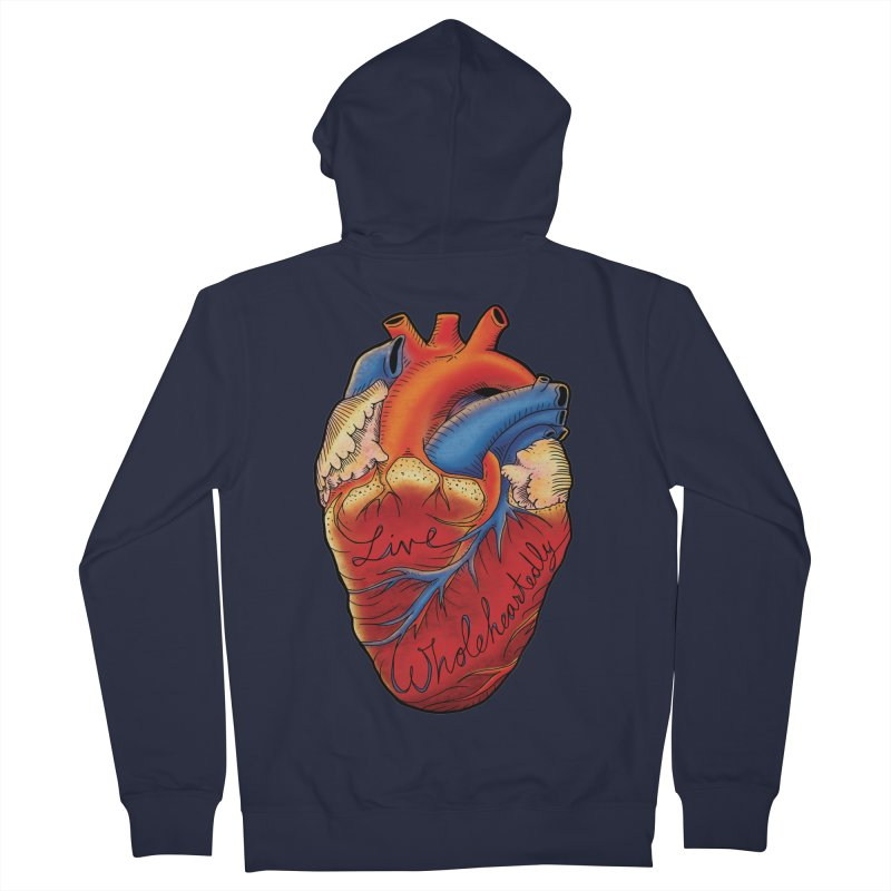 Live Wholeheartedly Women's French Terry Zip-Up Hoody by Haciendo Designs's Artist Shop