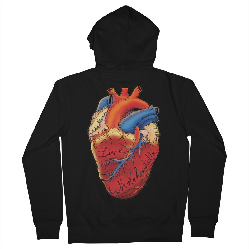 Live Wholeheartedly Men's Zip-Up Hoody by Haciendo Designs's Artist Shop