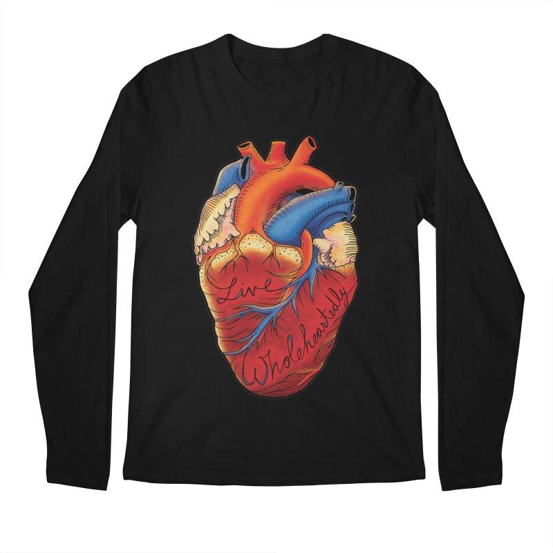 Live Wholeheartedly Men's Longsleeve T-Shirt by Haciendo Designs's Artist Shop
