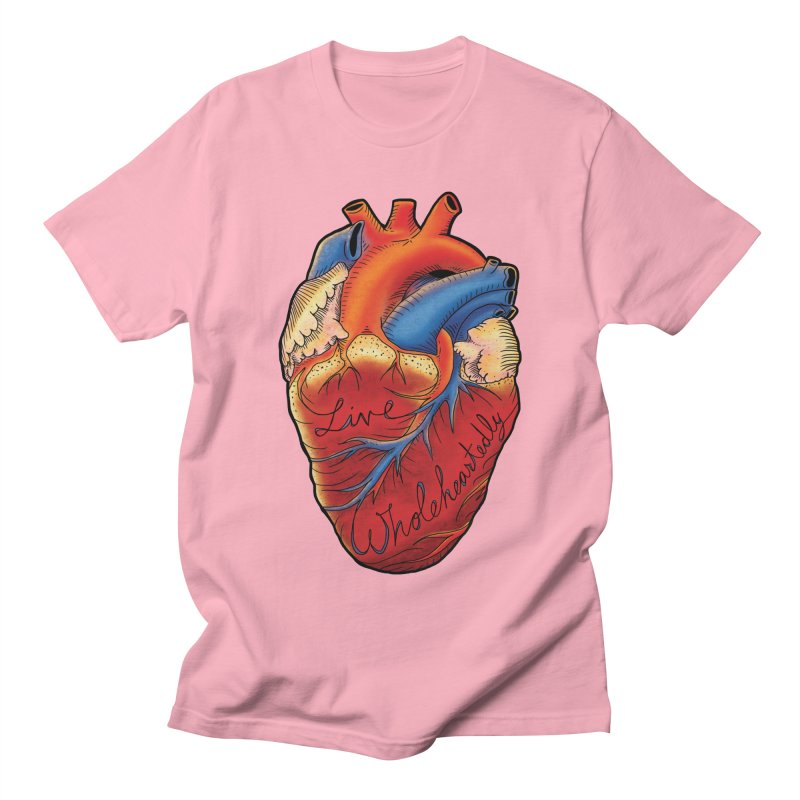 Live Wholeheartedly Men's Regular T-Shirt by Haciendo Designs's Artist Shop