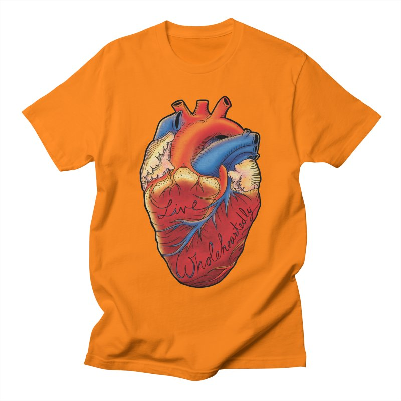 Live Wholeheartedly Men's T-shirt by Haciendo Designs's Artist Shop