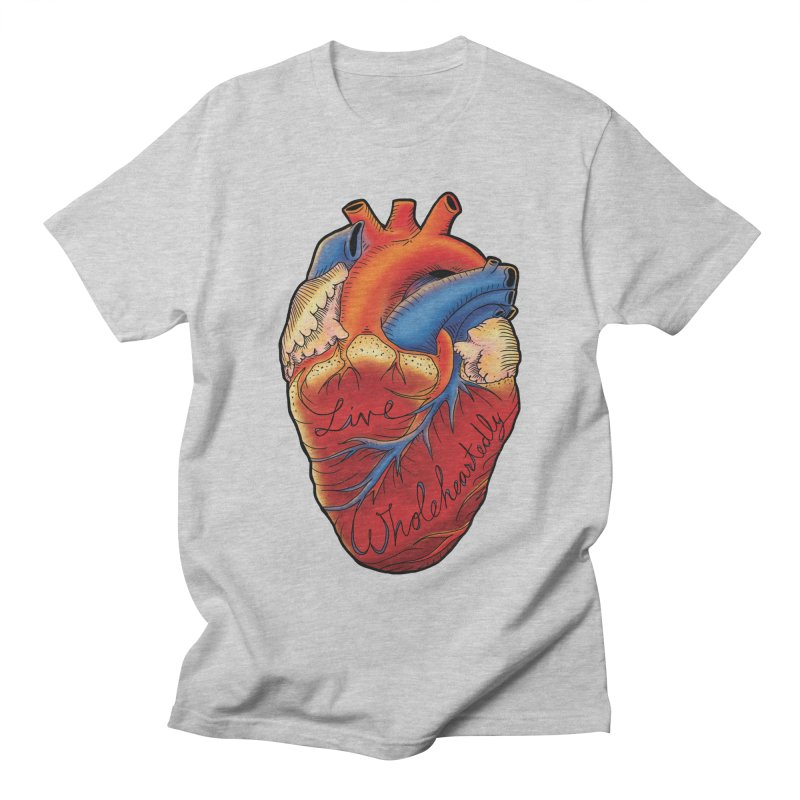 Live Wholeheartedly Men's Regular T-Shirt by Haciendo Designs's Artist Shop