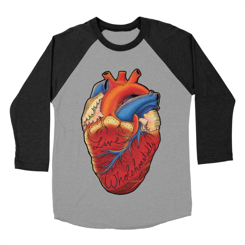 Live Wholeheartedly Men's Baseball Triblend Longsleeve T-Shirt by Haciendo Designs's Artist Shop