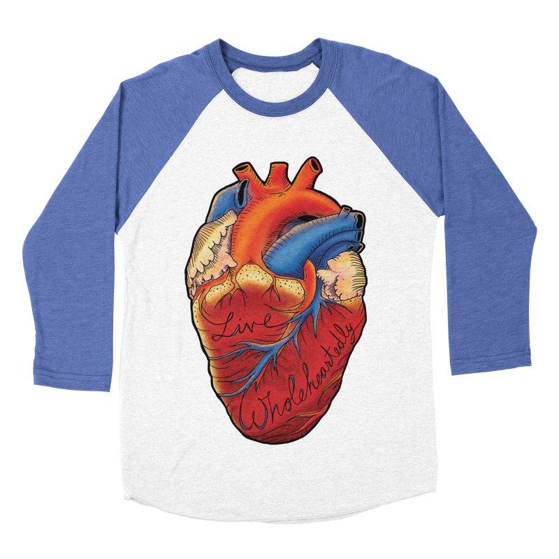 Live Wholeheartedly Men's Baseball Triblend Longsleeve T-Shirt by Haciendo Designs's Artist Shop