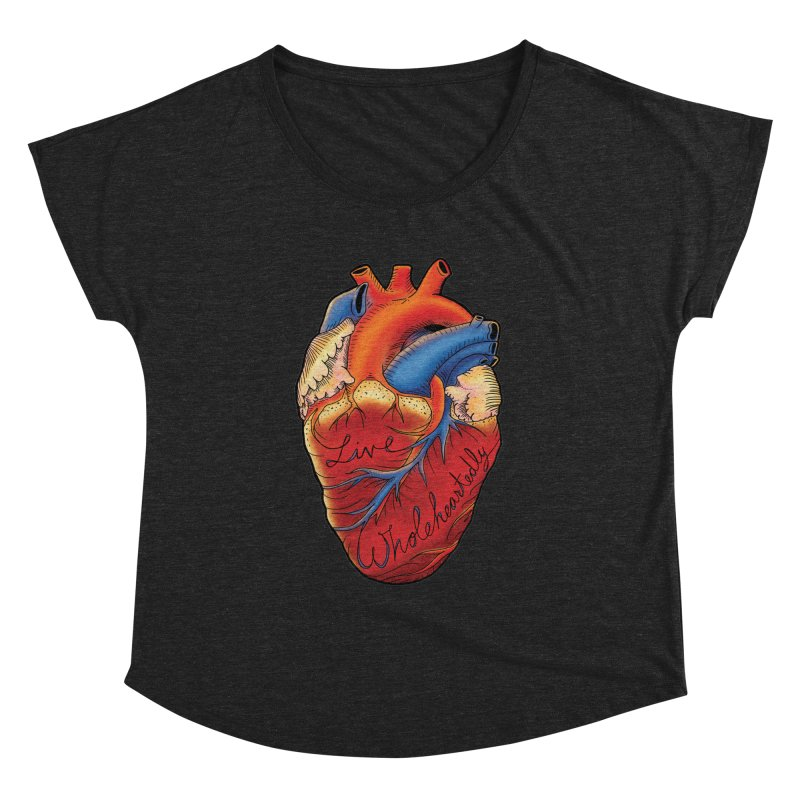 Live Wholeheartedly Women's Dolman Scoop Neck by Haciendo Designs's Artist Shop