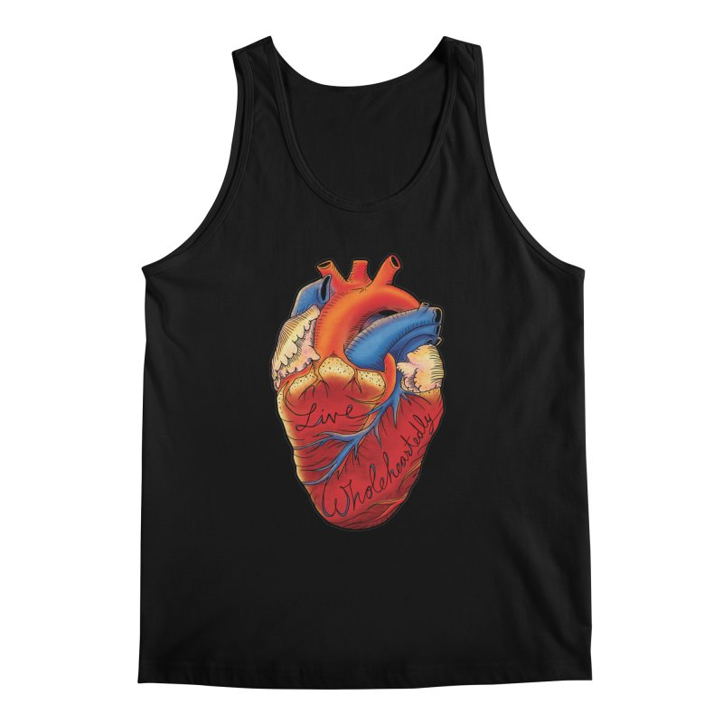 Live Wholeheartedly Men's Regular Tank by Haciendo Designs's Artist Shop