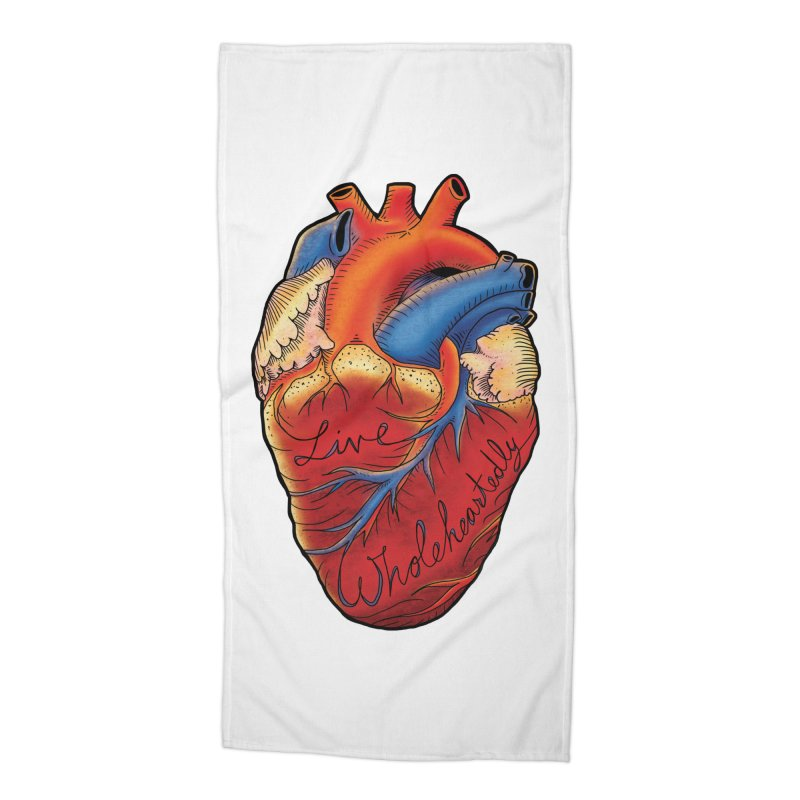 Live Wholeheartedly Accessories Beach Towel by Haciendo Designs's Artist Shop