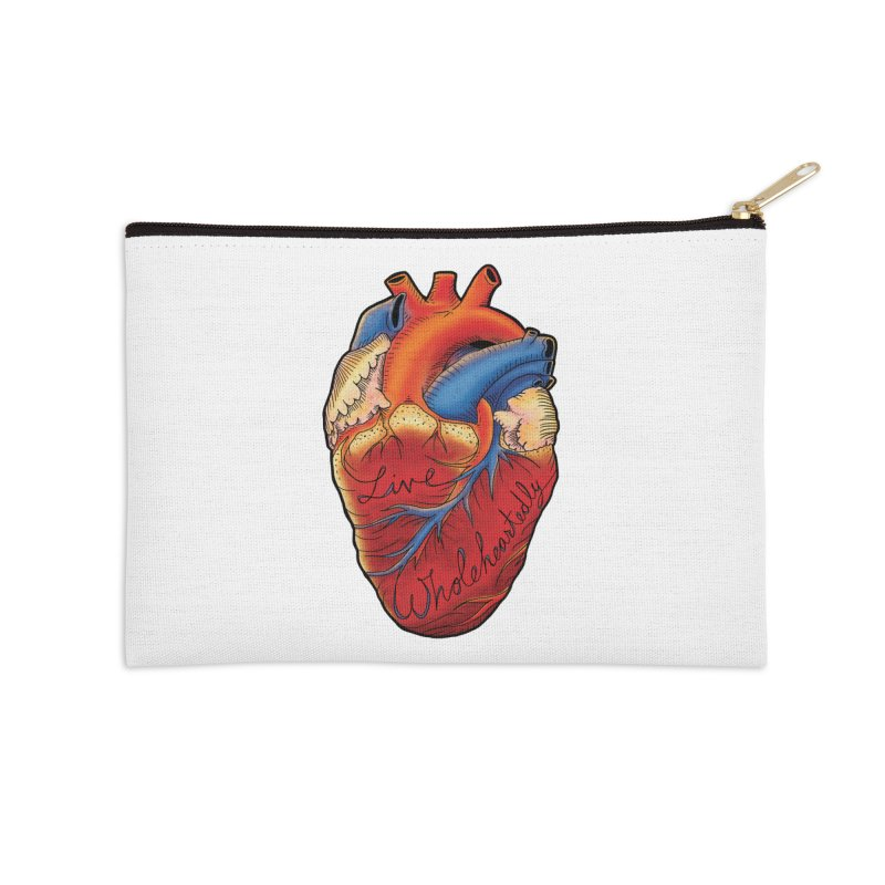 Live Wholeheartedly Accessories Zip Pouch by Haciendo Designs's Artist Shop