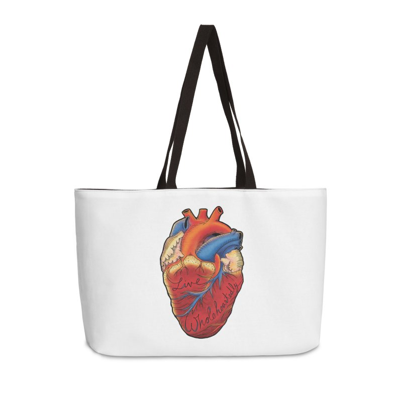 Live Wholeheartedly Accessories Weekender Bag Bag by Haciendo Designs's Artist Shop