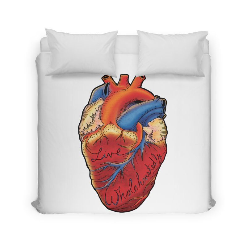 Live Wholeheartedly Home Duvet by Haciendo Designs's Artist Shop