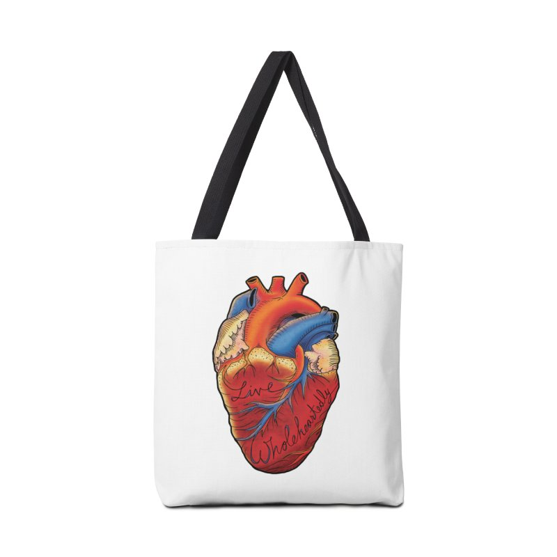 Live Wholeheartedly Accessories Bag by Haciendo Designs's Artist Shop